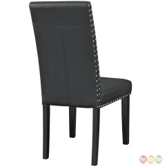 Contemporary Leather Dining Chairs Porch Rocking Canada Parcel Faux Side Chair With