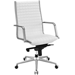Office Chair Vinyl White Bistro Hire Pattern High Back With Upholstered Boxed