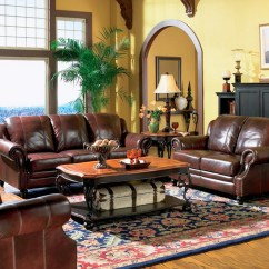 Living Room Color Schemes Black Leather Couch Large Sofas Princeton Genuine Sofa & Loveseat Tri ...