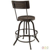 Procure Industrial Modern Wood Bar Stool With Cast Iron ...