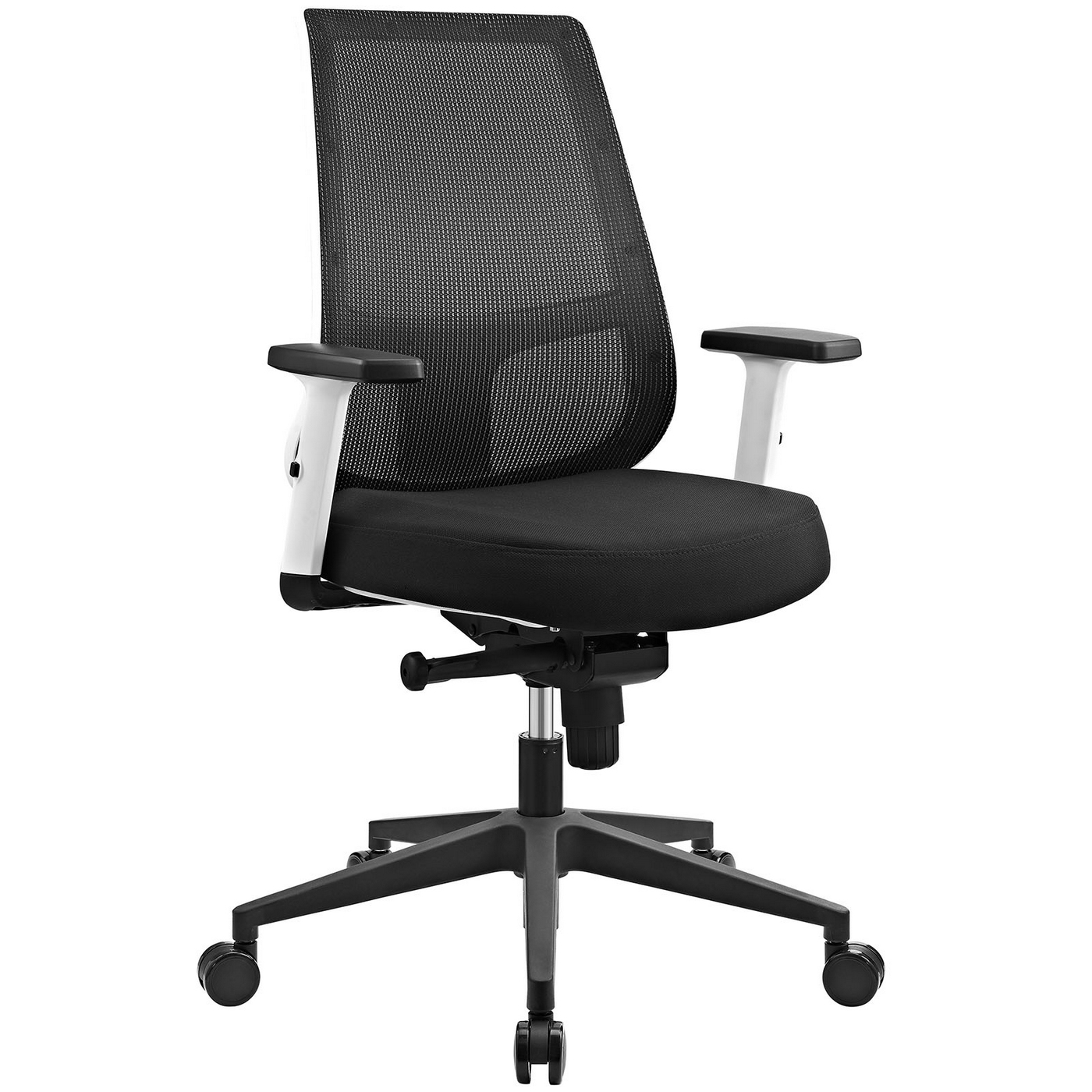 Office Chairs White Pump Ergonomic Mesh Back Office Chair W White Frame