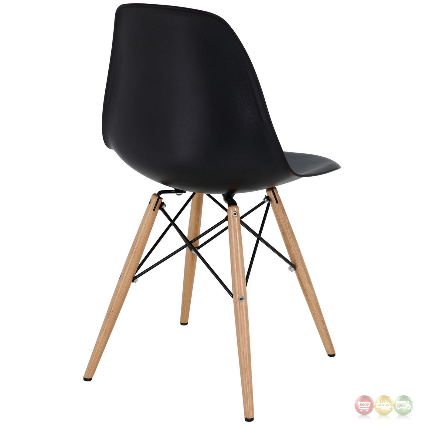 Plastic Dining Chairs Pyramid Modern Molded Plastic Dining Side Chairs With