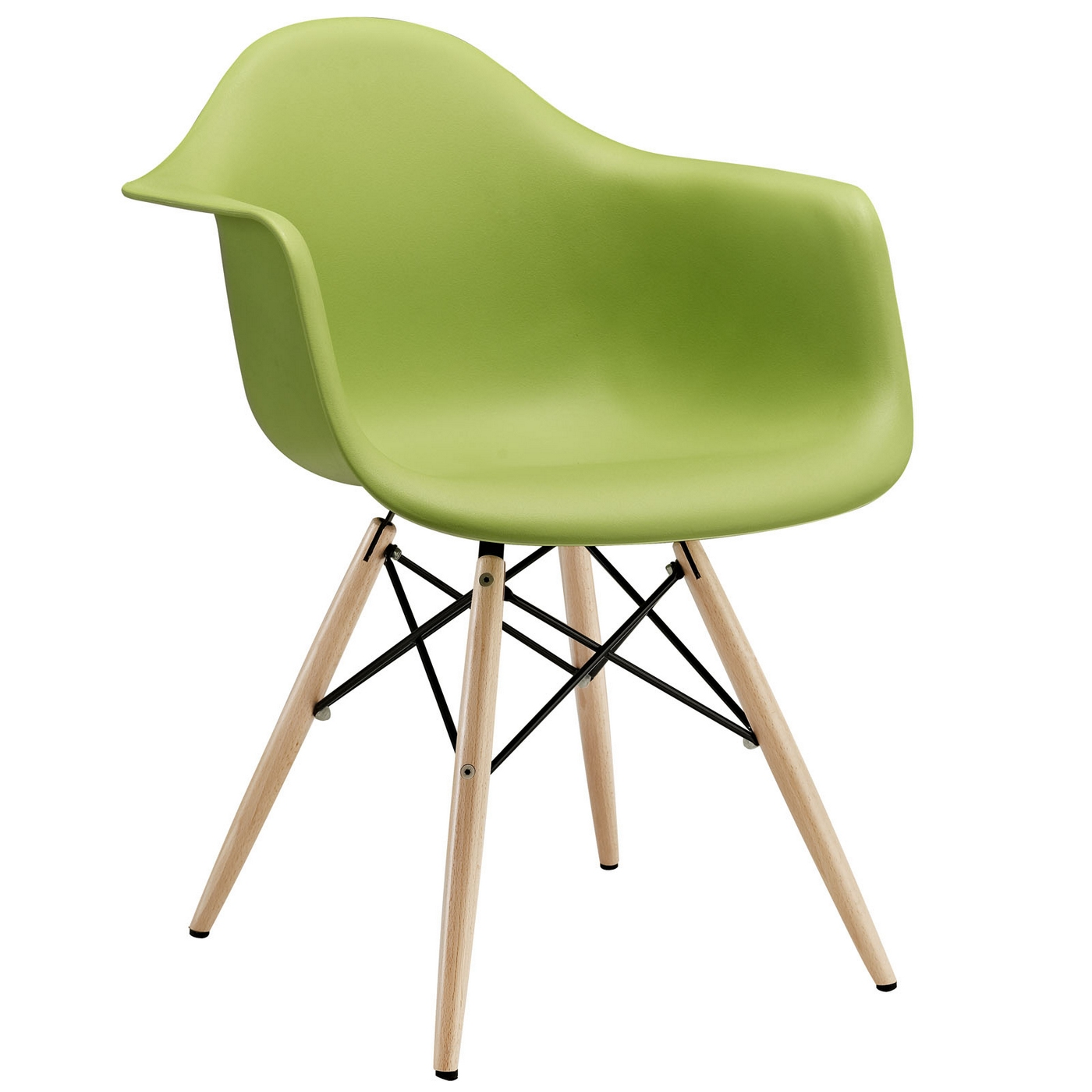 Modern Plastic Chairs Pyramid Modern Plastic Arm Chair W Wood Legs And Steel