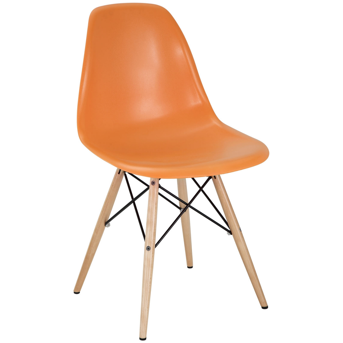 plastic chairs with stainless steel legs childrens wooden table and pyramid modern side chair wood