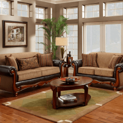 Traditional Sofa Sets Living Room Dhp Aria White Futon Bed Cherry Wood Frame Radar Mocha Chenille And Loveseat Set