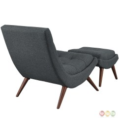 Modern Lounge Chair And Ottoman Set Norstar Office Parts Ramp Upholstered With Wood