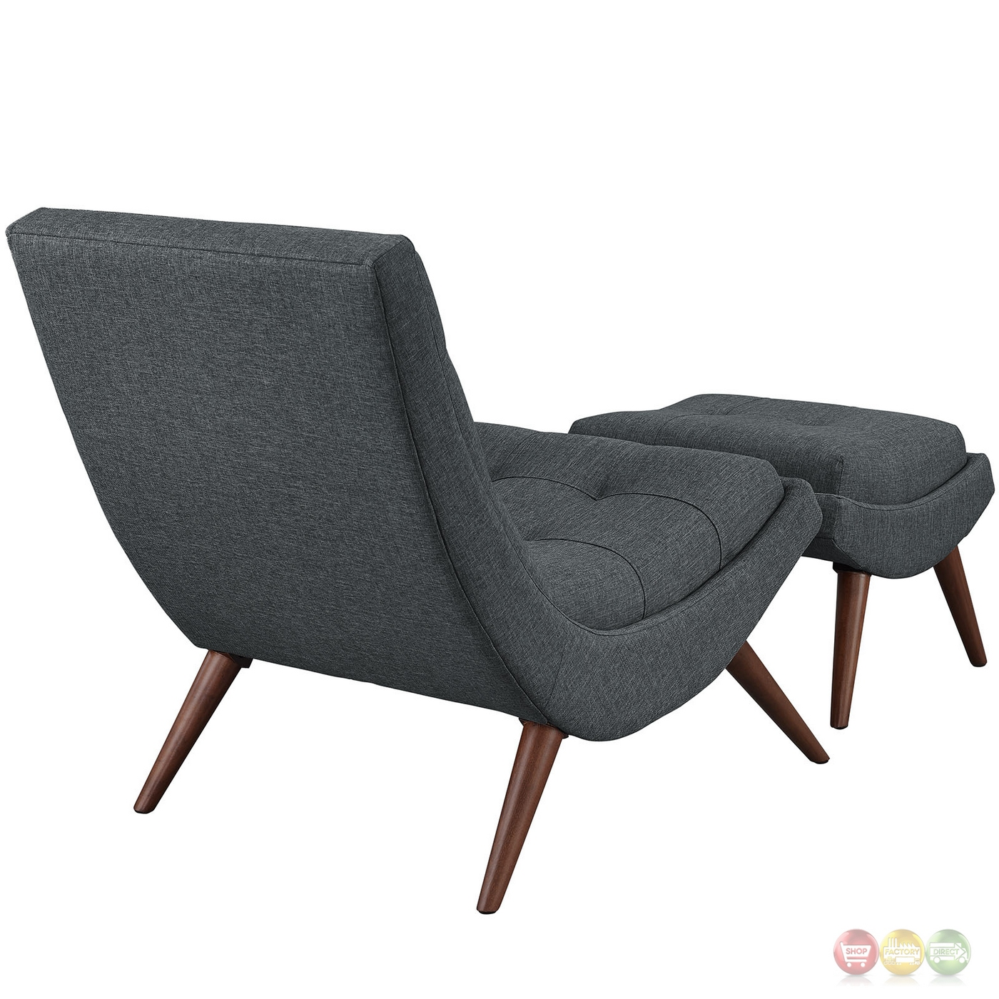 Lounge Chair With Ottoman Ramp Modern Upholstered Lounge Chair And Ottoman With Wood