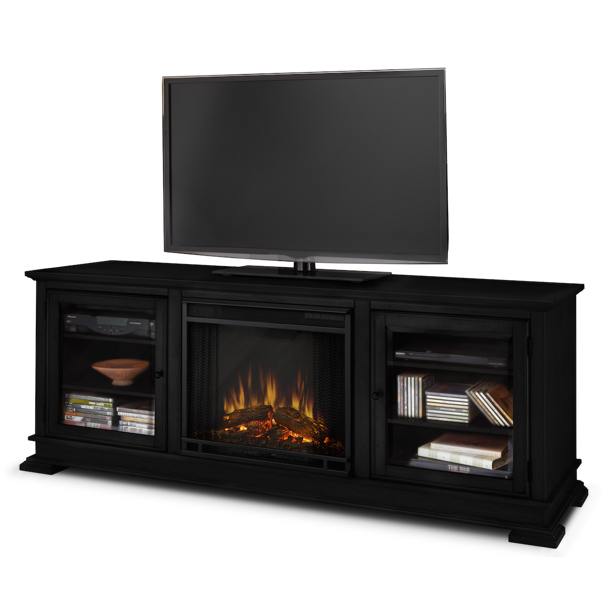 Real Flame Hudson Electric Fireplace In Black
