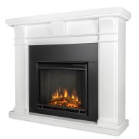 Real Flame Porter Electric Fireplace in White