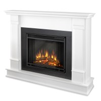 Real Flame Silverton Electric Fireplace in White