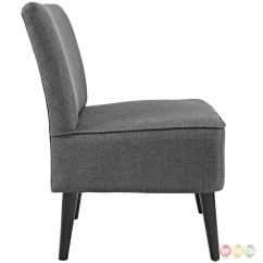 Grey Upholstered Chair White Legs Little Table And Chairs For Toddlers Reef Contemporary Side With Wooden