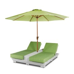 Lounge Chair Umbrella Stand Black Covers For Rent Vig Renava Gemini Two Built In Base And