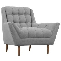 Response Contemporary Button-tufted Upholstered Armchair ...