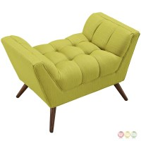 Response Contemporary Button-tufted Upholstered Ottoman ...