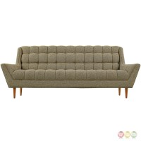 Response Contemporary Button-tufted Upholstered Sofa, Oatmeal