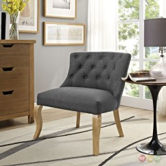 Grey Upholstered Chair White Legs Covers Vintage Royal Modern French Inspired Accent With