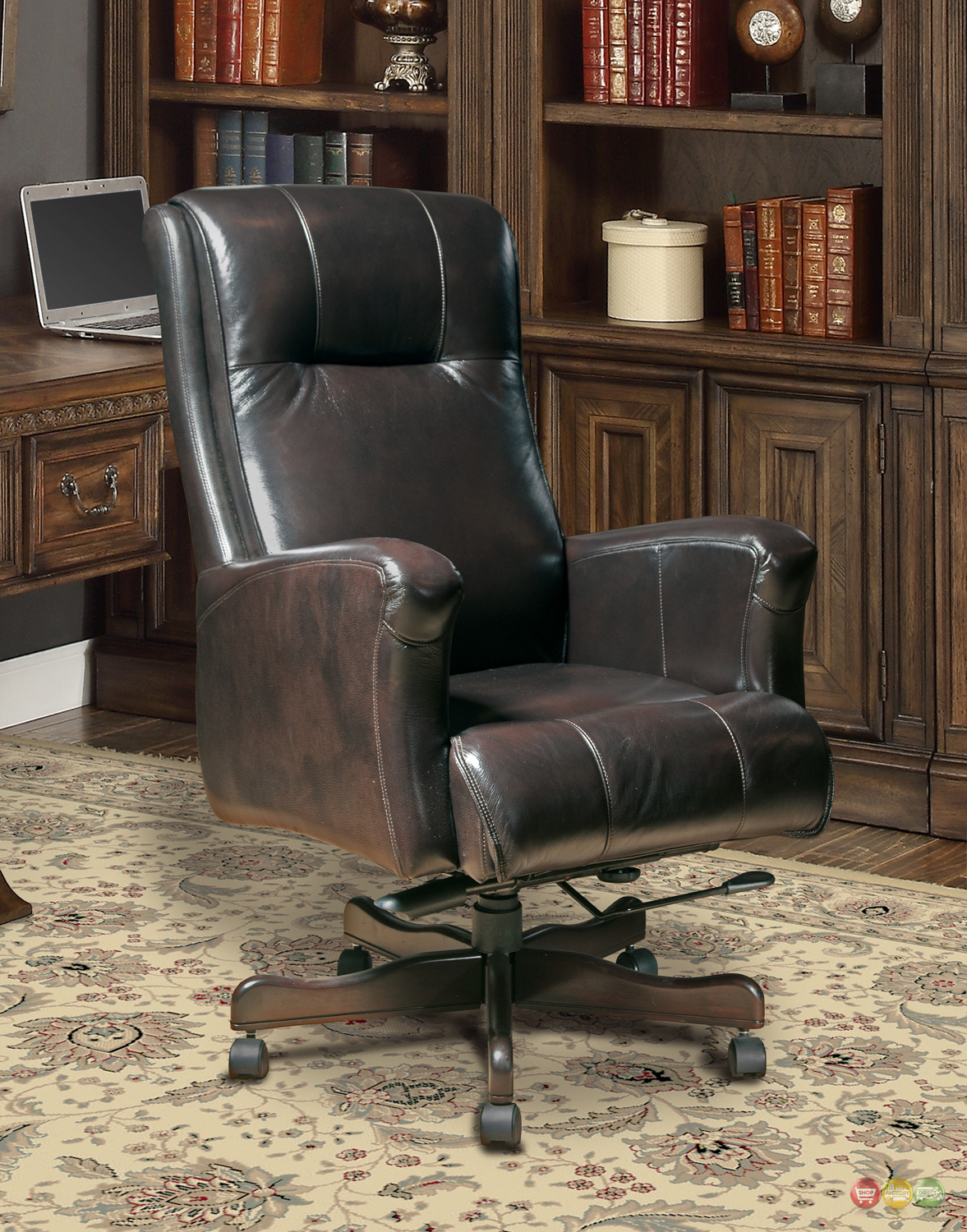 Real Leather Office Chair Sable Genuine Leather Office Furniture Desk Chair Dc 103