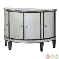 Sainsbury Mirrored Console Storage Cabinet 24376