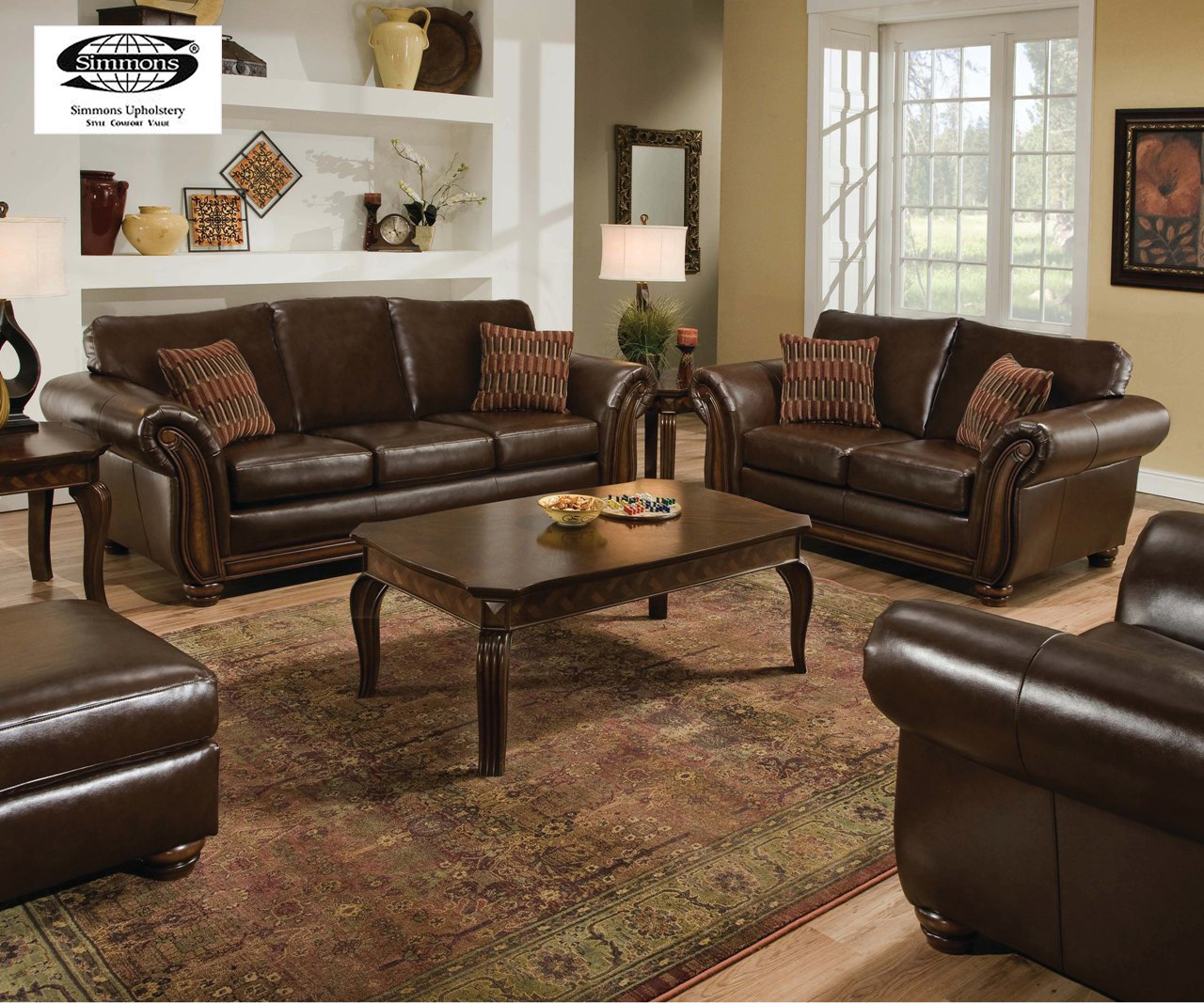 Leather Living Room Chair Sofa Sets