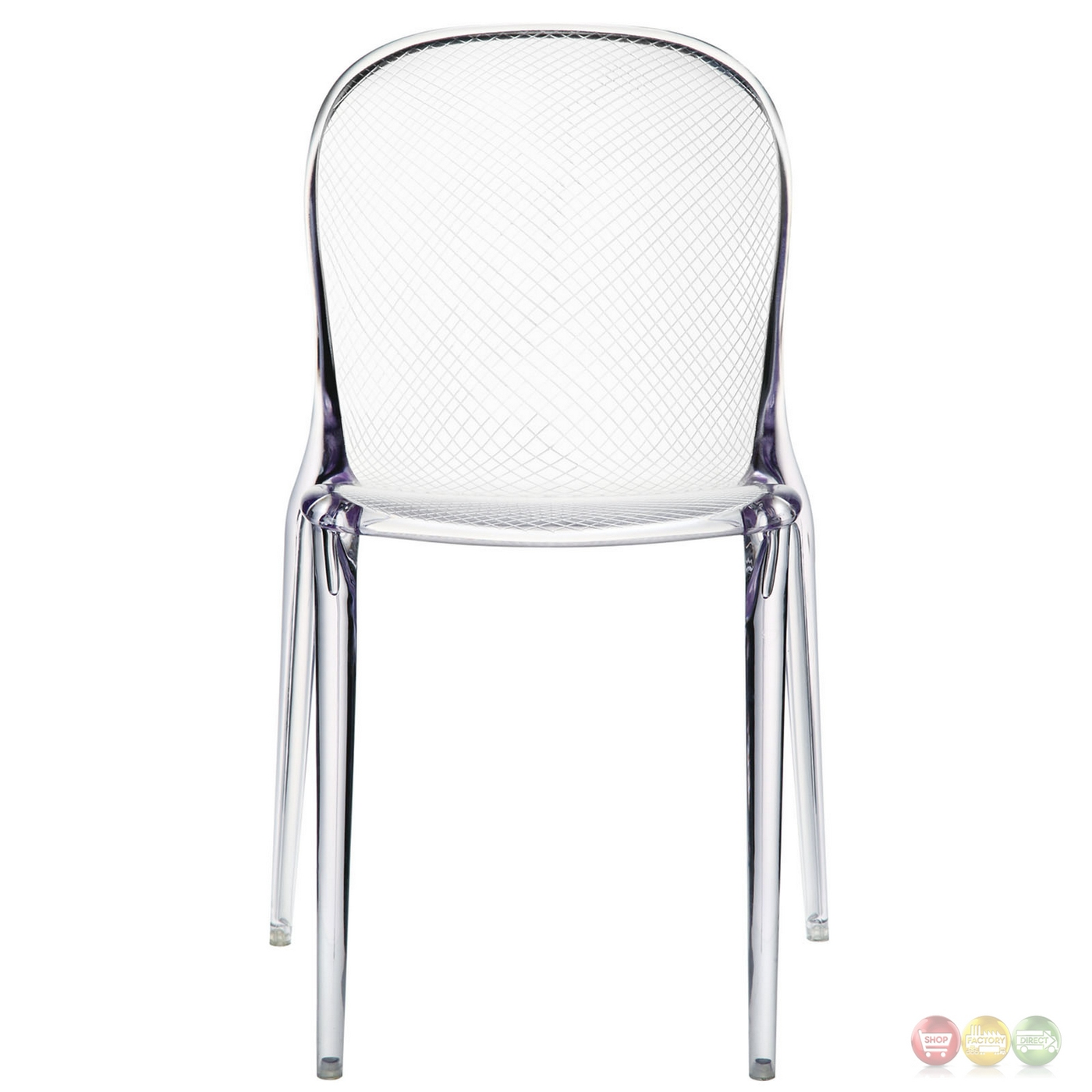 Plastic Clear Chair Scape Contemporary Transparent Acrylic Dining Side Chair