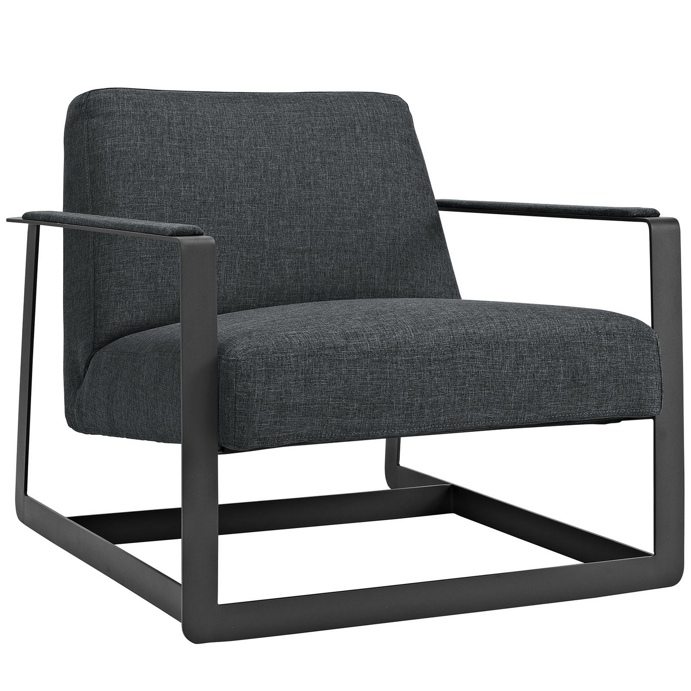 Seg Contemporary Fabric Upholstered Accent Chair With