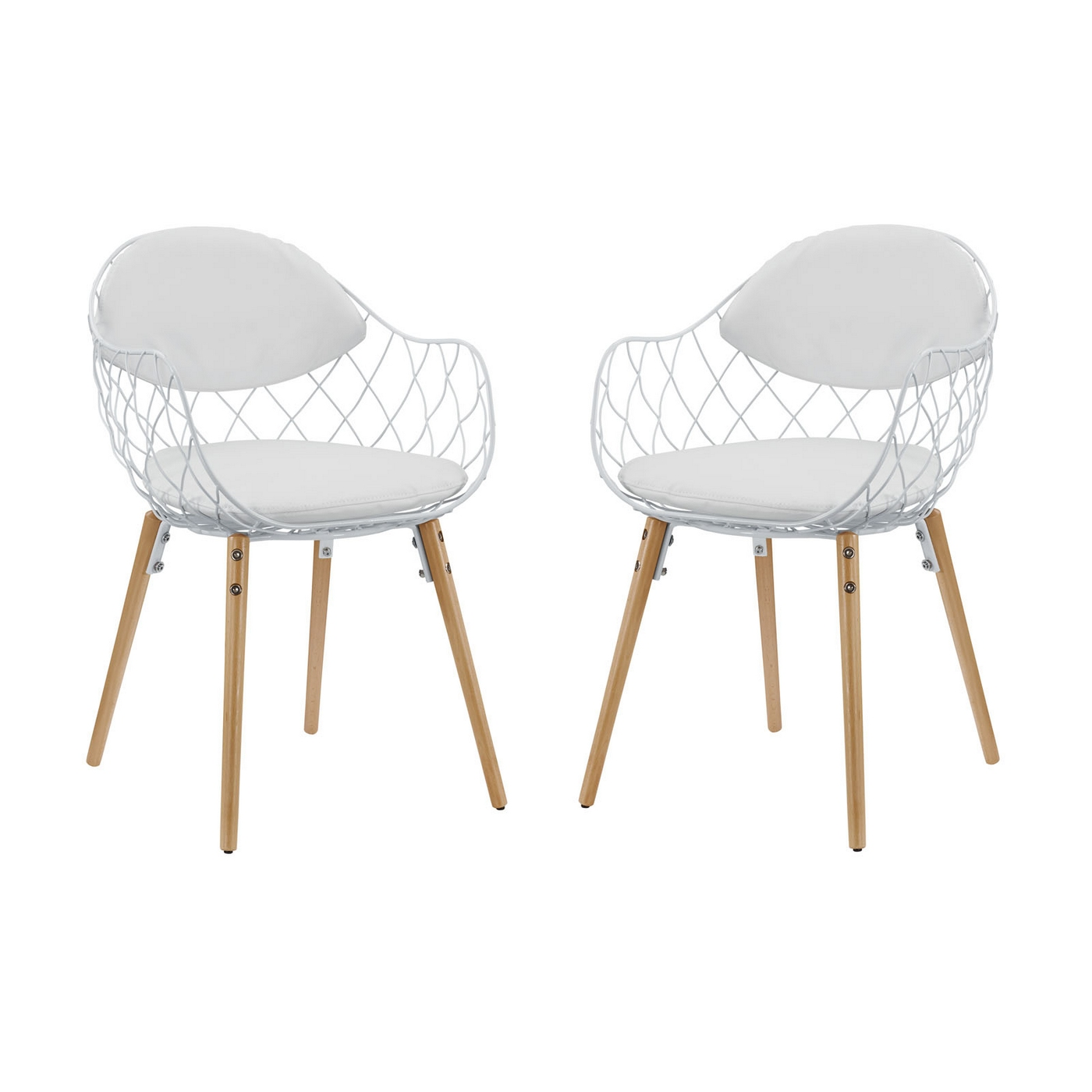 basket weave dining chairs low cost set of 2 modern open wire weaved chair