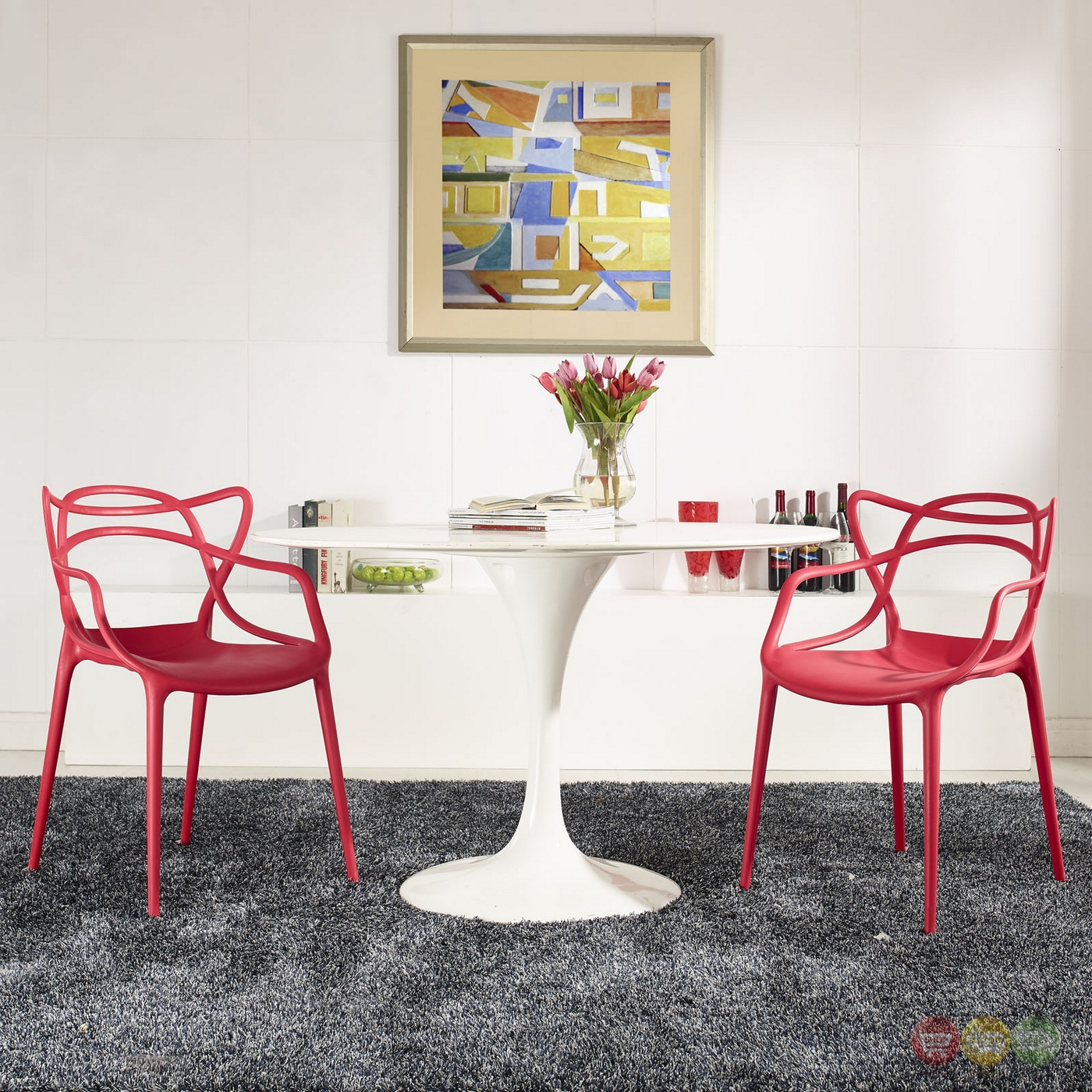 Plastic Dining Chairs Set Of 2 Entangled Modern Shapely Molded Plastic Dining