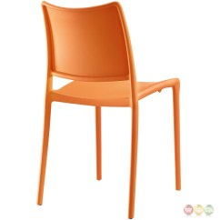 Orange Stackable Chairs Stokke High Chair Alternative Set Of 2 Hipster Casual Plastic Molded Dining
