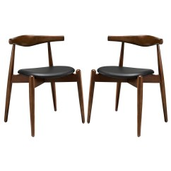 Dark Wood Dining Chairs Living Room Swivel Chair Set Of 2 Stalwart Contemporary Side W