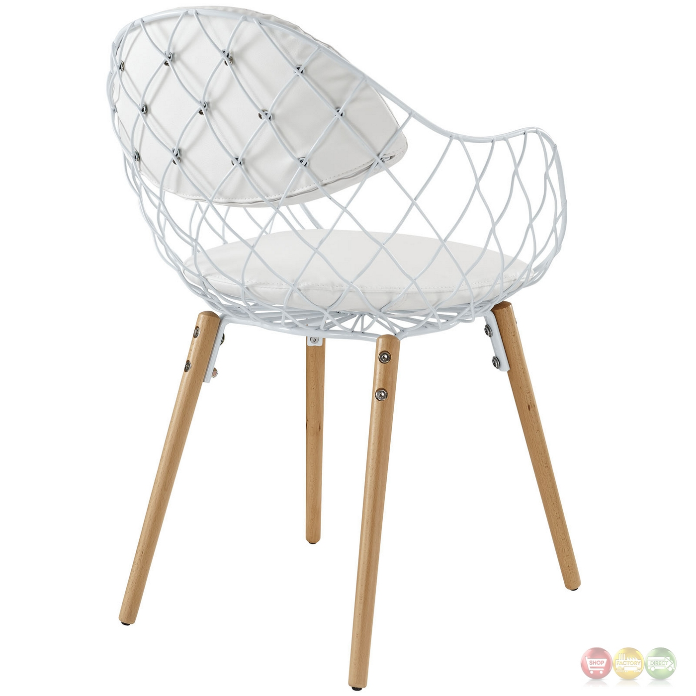 Set Of 4 Basket Modern Openwire Weaved Dining Chair Set