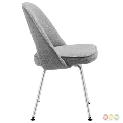 Grey Upholstered Chair White Legs Walmart Glider Rocking Set Of 4 Cordelia Tweed Dining Chairs With