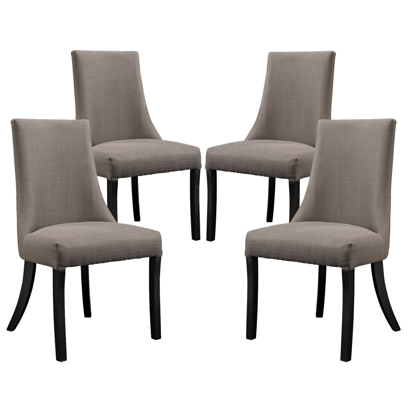 Grey Wood Dining Chairs Set Of 4 Reverie Upholstered Dining Side Chair With Wood