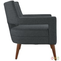 Sheer Stylish Mid-century Upholstered Armchair With Wood ...
