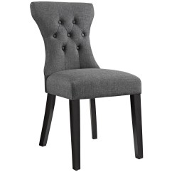 Modern Gray Dining Chairs Fishing Backpack Chair Silhouette Tapered Back Side With Wood