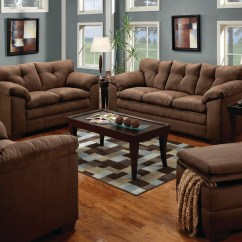 Sofa And Loveseat Set Up 0 Sofas Simmons Luna Brown Microfiber