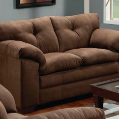 Simmons Sofa And Loveseat Wooden Offer In Chennai Luna Brown Microfiber Set