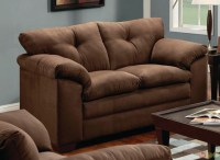 Simmons Luna Brown Microfiber sofa and Loveseat Set