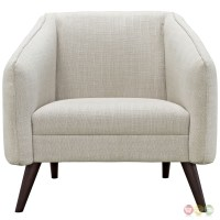 Slide Mid-century Modern Upholstered Armchair With Wood ...