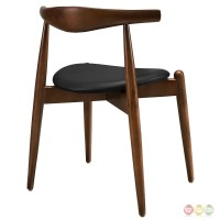 Stalwart Contemporary Solid Wood Dining Side Chair With ...