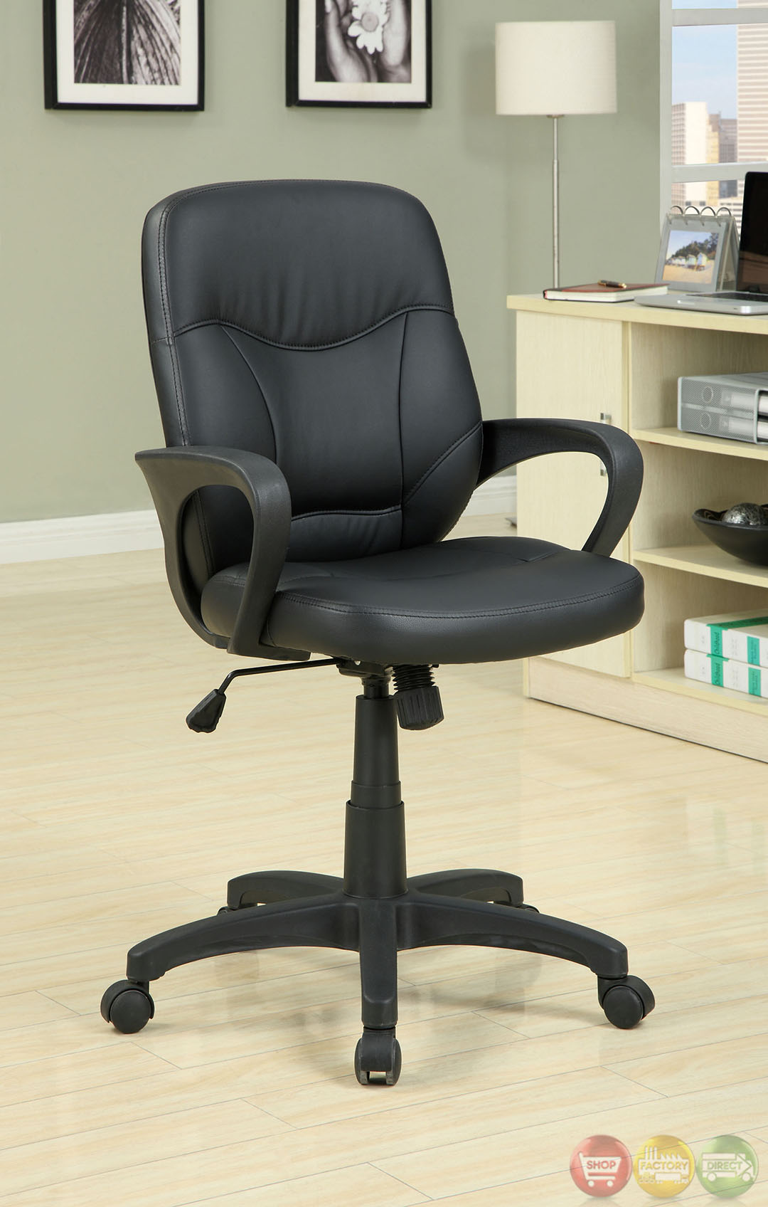 desk chair legs painting plastic chairs with chalk paint stratford black office sturdy wheel cm fc602