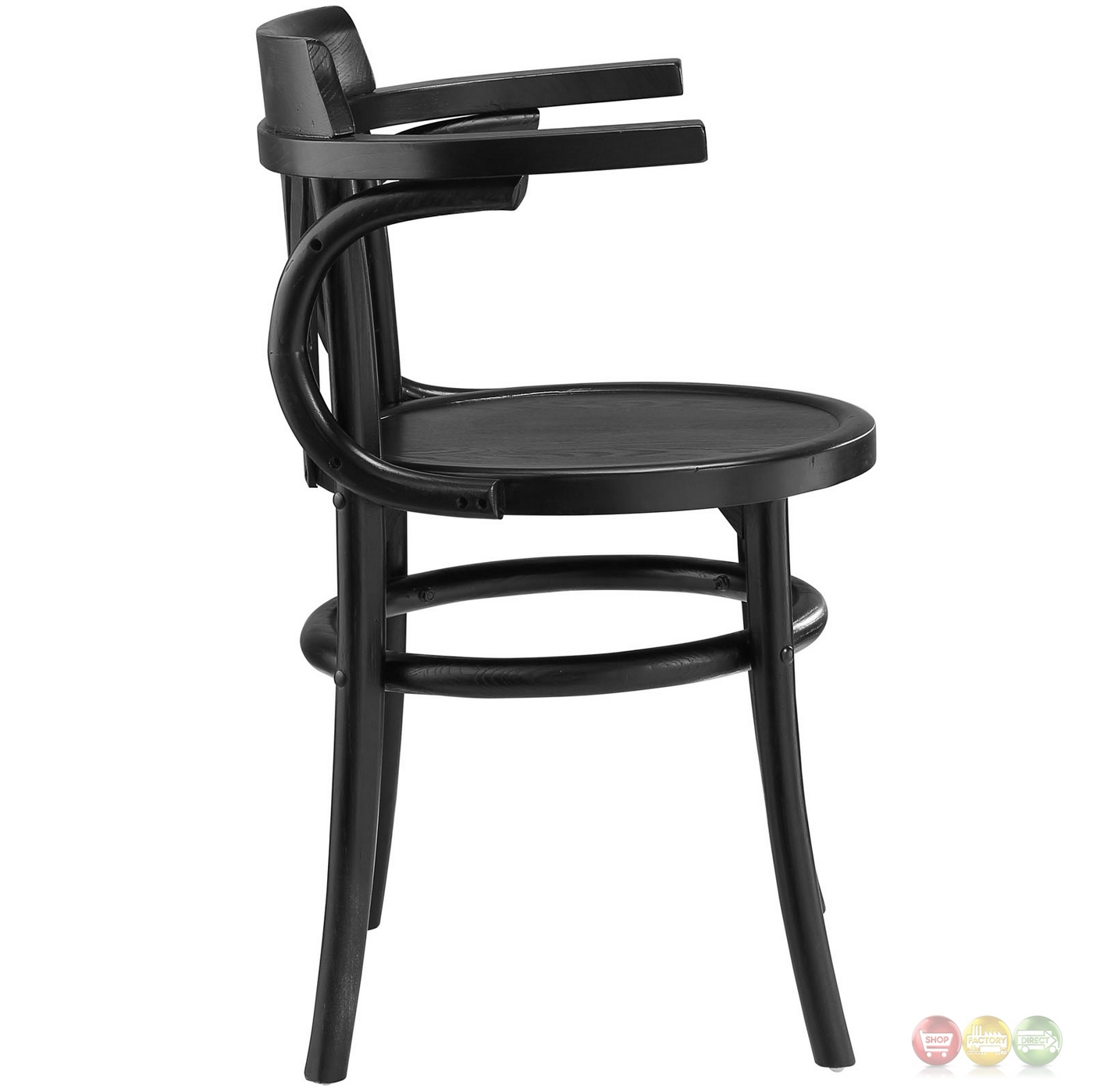 round wooden chair black vinyl covers stretch modern rustic solid wood seat dining side