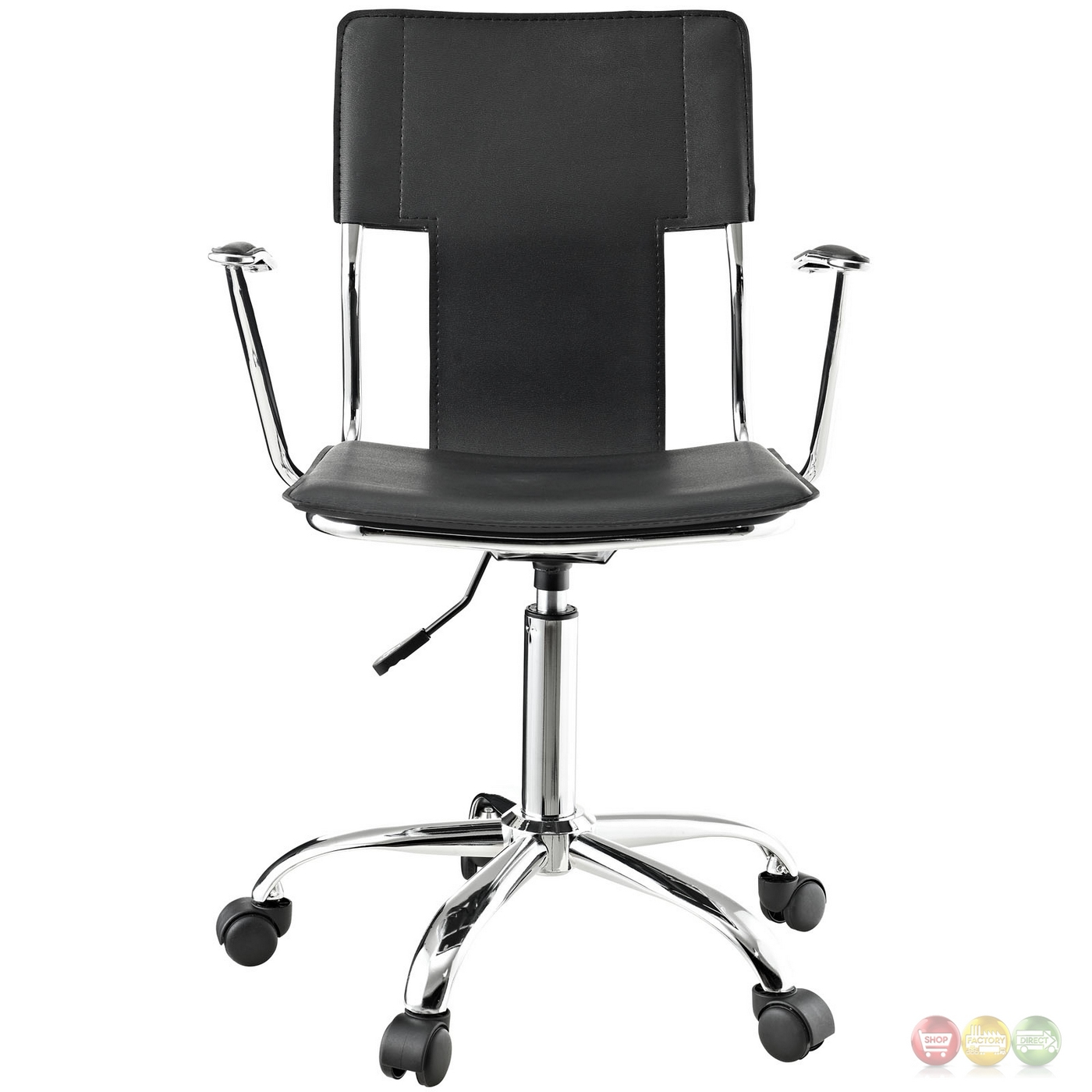 office chair vinyl vintage wood chairs studio modern with sling like back