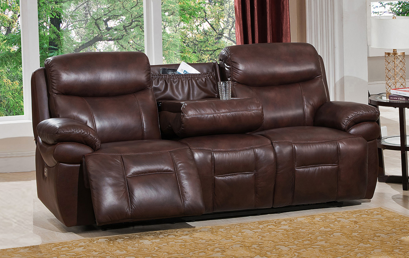real leather sofa sets signature rudolpho convertible sleeper by lifestyle solutions summerlands powered 3pc reclining set in genuine