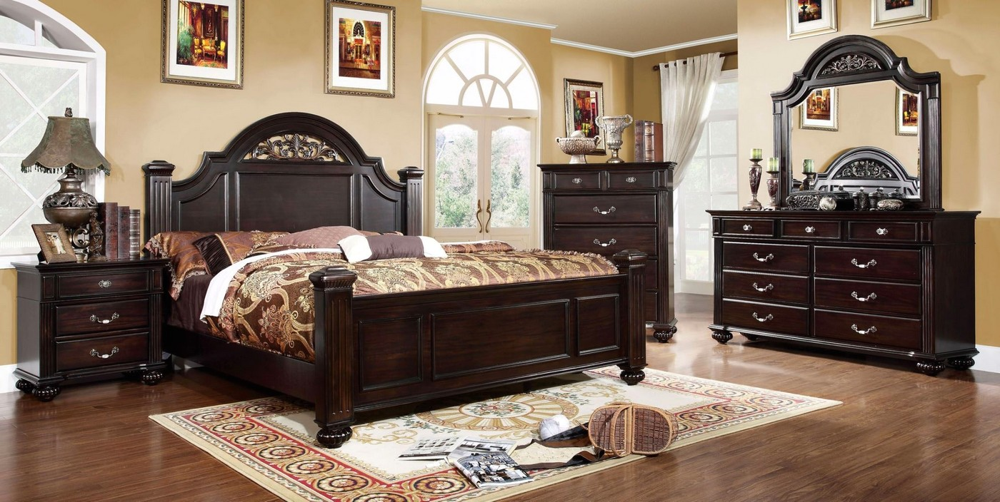 Dark Walnut Bedroom Set  Syracuse Bedroom Set  Shop Factory Direct