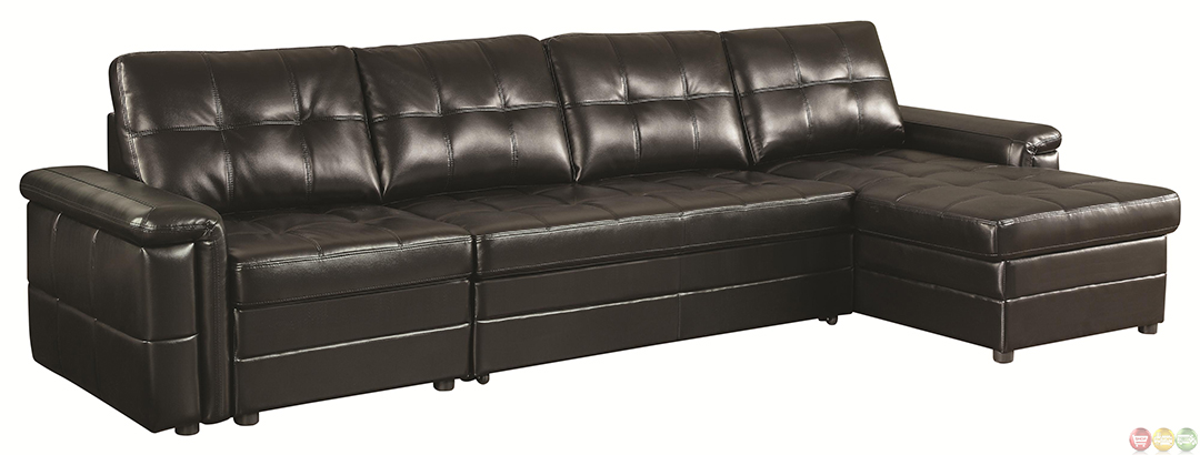 Tarrson Transitional Sectional Sofa With Pull Out Bed