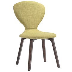 Green Upholstered Dining Chairs Chair Covers Set Of 4 Tempest Vintage Modern Curvy Wood Side With