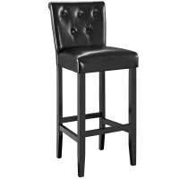 Tender Modern Button-tufted Faux Leather Bar Stool W/foot ...