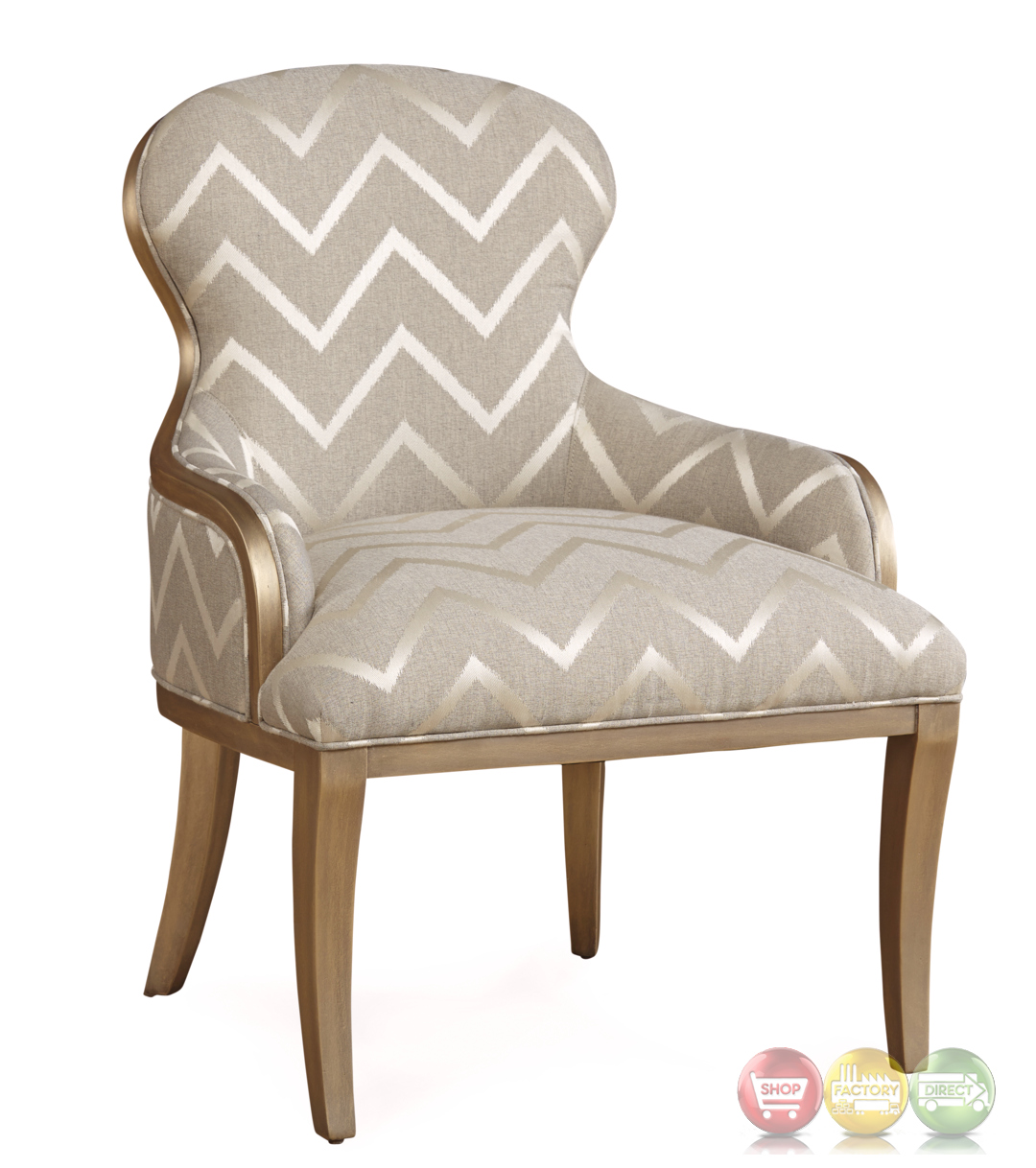 gray chevron chair colored office chairs the foundry french accent in grey and champagne
