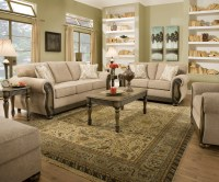 Theory Dunes Traditional Beige Living Room Furniture Set w ...