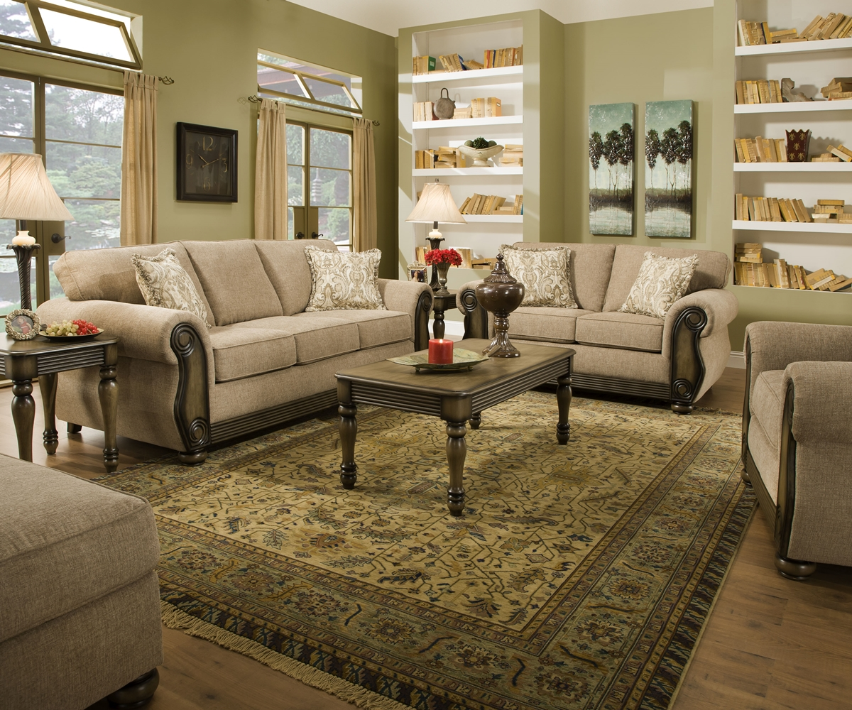 traditional sofa sets living room cloth chesterfield theory dunes beige furniture set w
